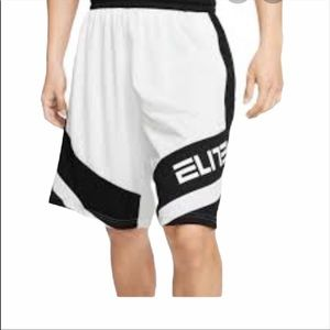 NWT Nike Elite Dry Fit White Basketball Shorts